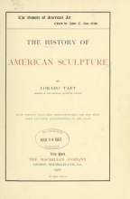 Cover of The history of American sculpture