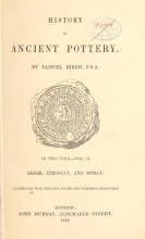 Cover of History of ancient pottery