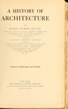 Cover of A history of architecture
