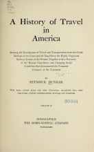 Cover of A history of travel in America v.2 (1915)