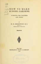 Cover of How to make school gardens
