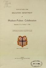 Cover of Hudson-Fulton celebration, September 25 to October 9, 1909