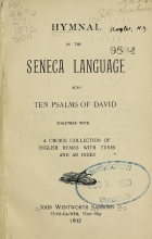 Cover of Hymnal in the Seneca language