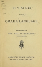 Cover of Hymns in the Omaha language