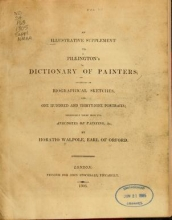 Cover of An illustrative supplement to Pilkington's Dictionary of painters