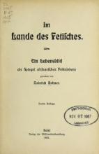 Cover of Im Lande des Fetisches