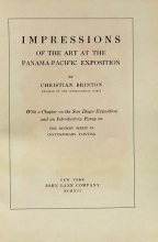 Cover of Impressions of the art at the Panama-Pacific Exposition