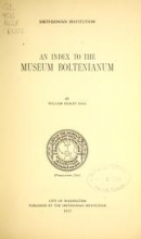 Cover of An index to the Museum Boltenianum