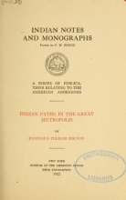 Cover of Indian paths in the great metropolis