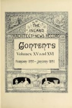Cover of The Inland architect and news record