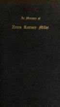 Cover of In memory of Zenos Ramsey Miller