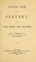 Cover of An inside view of slavery