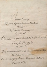 Cover of Institutiones physicae generalis et particularis