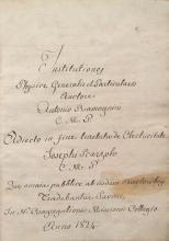Cover of Institutiones physicae generalis et particularis
