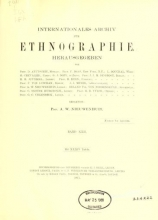 Cover of Internationales Archiv für Ethnographie