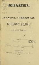 Cover of Ionteriwaienstakwa ne Kariwiioston Teieiasontha =