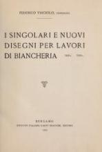Cover of I singolari e nuovi disegni per lavori di bianchería
