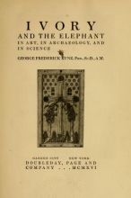 Cover of Ivory and the elephant in art, in archaeology, and in science