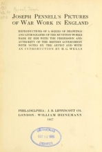 Cover of Joseph Pennell's pictures of war work in England