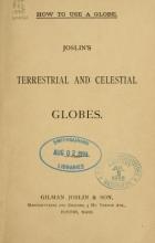 Cover of Joslin's terrestrial and celestial globes