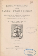 Cover of Journal of researches into the natural history and geology of the countries visited during the voyage round the world of the H.M.S. 'Beagle'