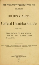 Cover of Julius Cahn's official theatrical guide