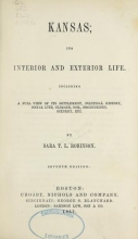 Cover of Kansas; its interior and exterior life