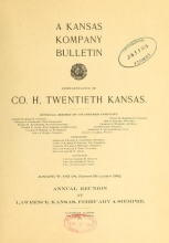 Cover of A Kansas kompany bulletin