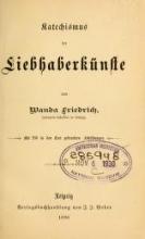 Cover of Katechismus der Liebhaberkünste