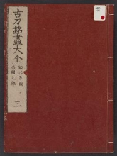 Cover of Kotō meitsukushi taizen v. 3