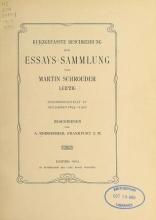 Cover of Kurzgefasste Beschreibung der Essays-Sammlung von Martin Schroeder, Leipzig