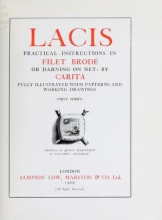 Cover of Lacis, practical instructions in filet brodé or darning on net