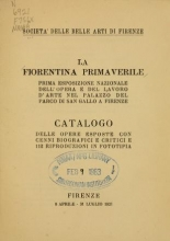 Cover of La fiorentina primaverile