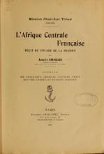 Cover of L'Afrique centrale française