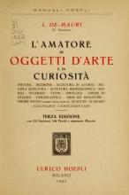 Cover of L'amatore di oggetti d'arte e di curiosità