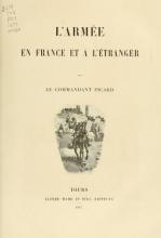 Cover of L'armée en France et à l'étranger