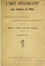 Cover of L'art décoratif aux salons de 1906
