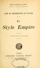 Cover of L'art de reconnaître les styles