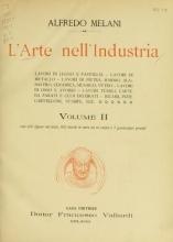 Cover of L'arte nell'industria v. 2