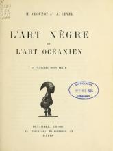 Cover of L'art nègre et l'art océanien