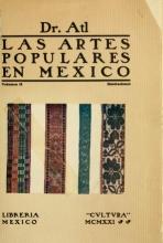 Cover of Las artes populares en Mexico