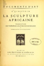Cover of La sculpture africaine