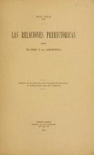 Cover of Las relaciones prehistóricas entre el Perú y la Argentina