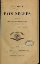Cover of A l'assaut des pays nègres