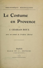 Cover of Le costume en Provence