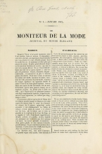 Cover of Le moniteur de la mode