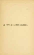 Cover of Le pays des Mangbettus