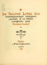 Cover of Le second livre des monogrammes, marques, cachets et es libris