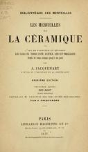 Cover of Les merveilles de la céramique