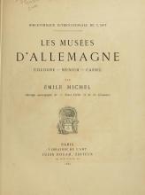 Cover of Les musées d'Allemagne